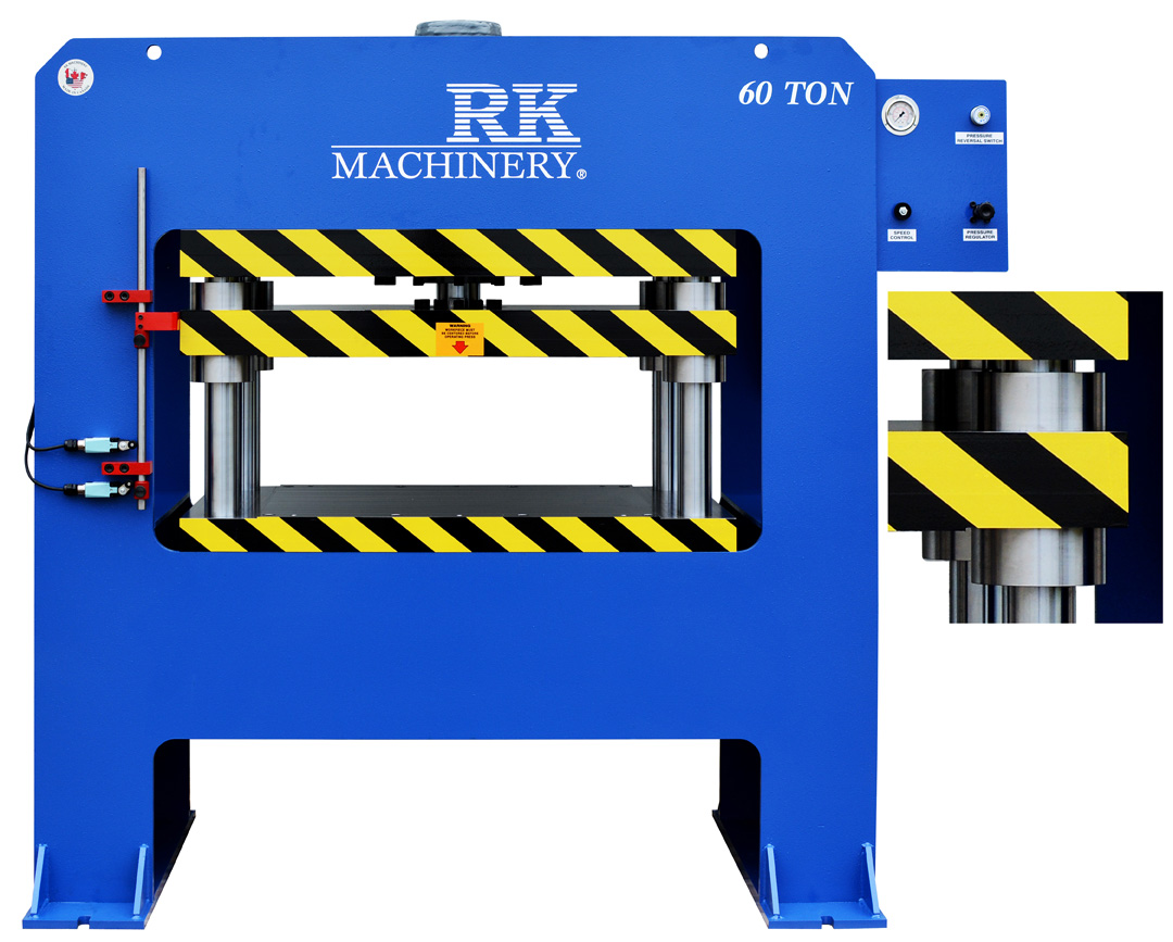 4-Post Hydraulic Press 60 ton. Manufactured by RK Machinery